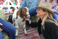 Cheyenne, Wyo., Mayor Marian Orr and a goat