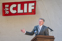 "Idaho Governor C.L. ""Butch"" Otter welcomes Clif Bar to Twin Falls."