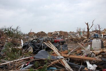 Damage from the May 22, 2011, tornado that struck Joplin, Mo.