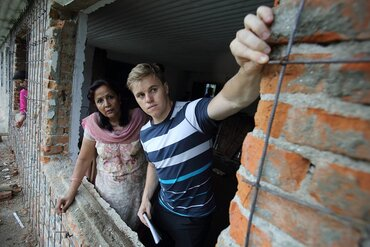 Inspections for the reconstruction of a school building in Kathmandu, Nepal