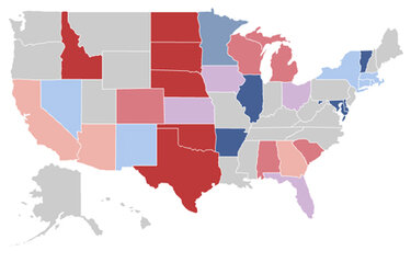 Map of state AG races