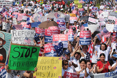 Immigration reform protestors