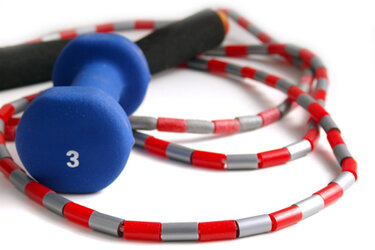 Jump-rope and three-pound weight