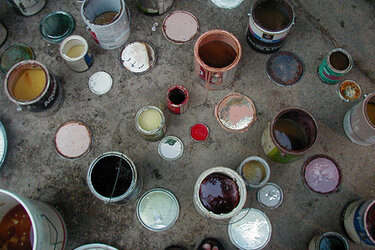 Buckets of paint