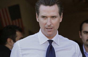 California Lt. Governor Gavin Newsom