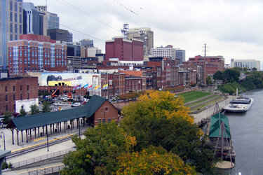 Downtown Nashville from the Shelby Street Bridge