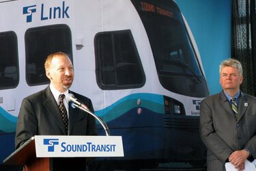Peter Rogoff, left, is now the U.S. Department of Transportation's acting under secretary for policy.