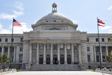 The Puerto Rico Capitol in San Juan.
