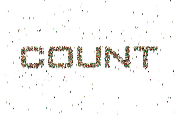 "People make up the word ""count."""
