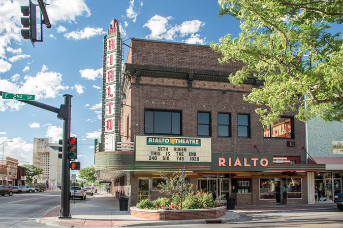 A movie theater in downtown Casper, Wyo., which is slated to decline after expanding last year.