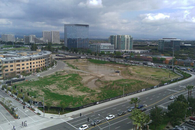 The developing Financial District in the City of Irvine, California.