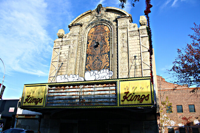 Brooklyn's Kings Theater when it was closed.