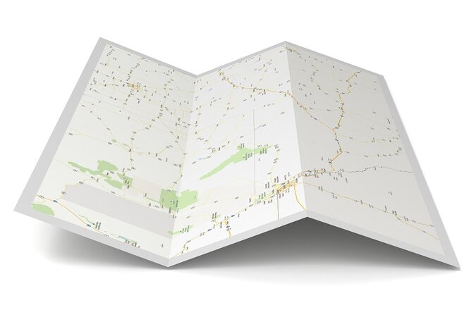 Paper map.