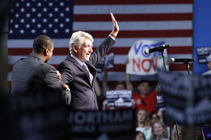 Mark Herring waving at a campaign stop.