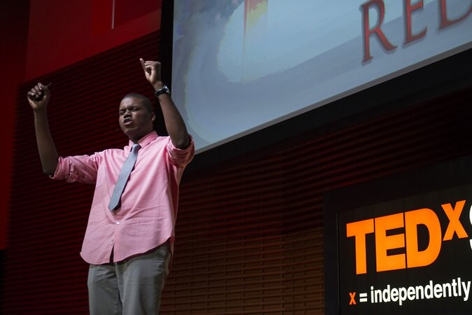 Michael Tubbs giving a TED x talk