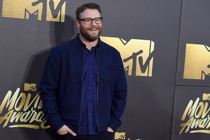 Seth Rogen at the MTV Movie Awards in 2016.