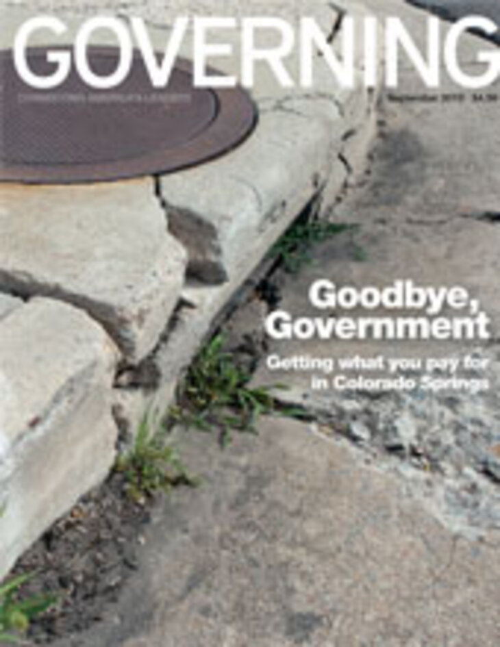 GOVERNING Magazine September 2010 Issue Cover