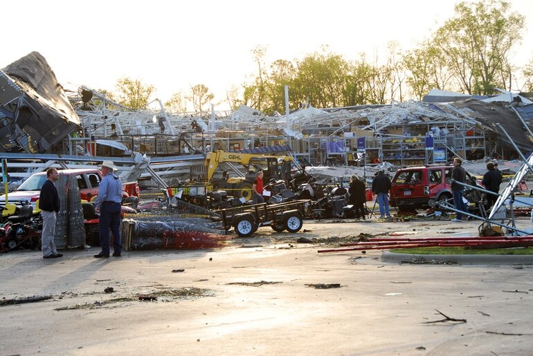 The Lowe's in Sanford, N.C. after a tornado