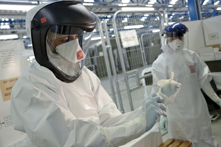 Ebola safety suits