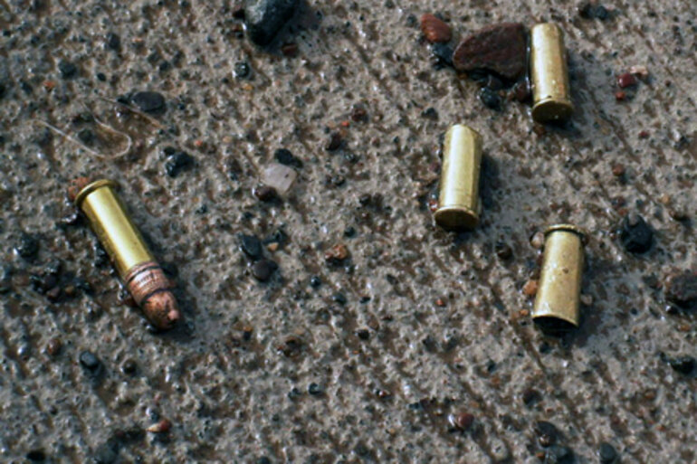 Bullets on the ground
