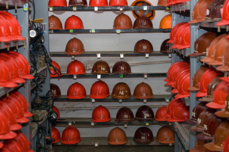 Mining helmets and safety equipment