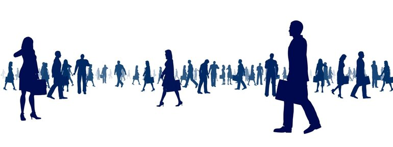 Businesspeople in silhouette representing the IT workforce