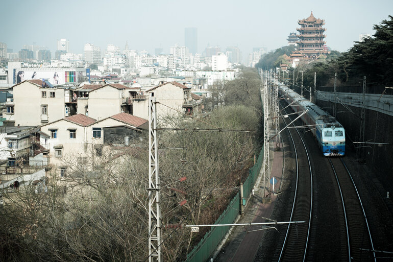 The Chinese city of Wuhan.