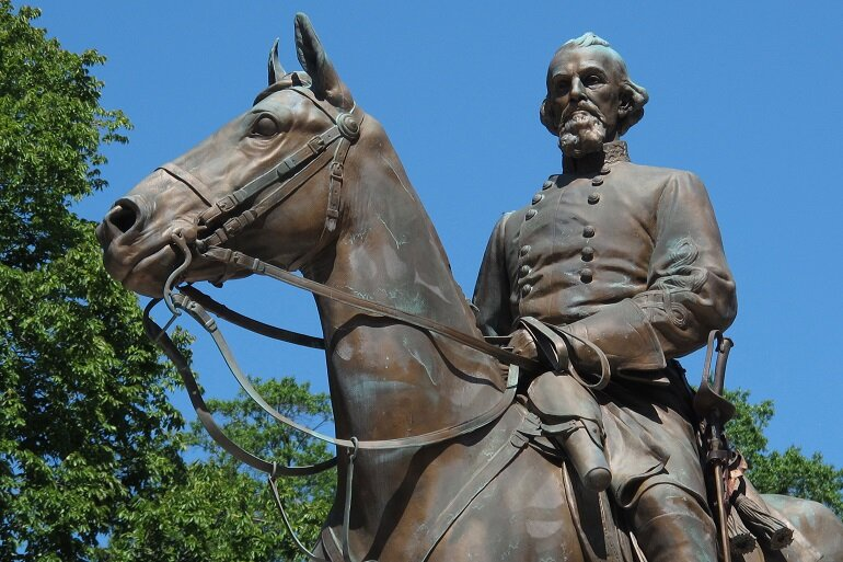 A statue of Nathan Bedford Forrest.
