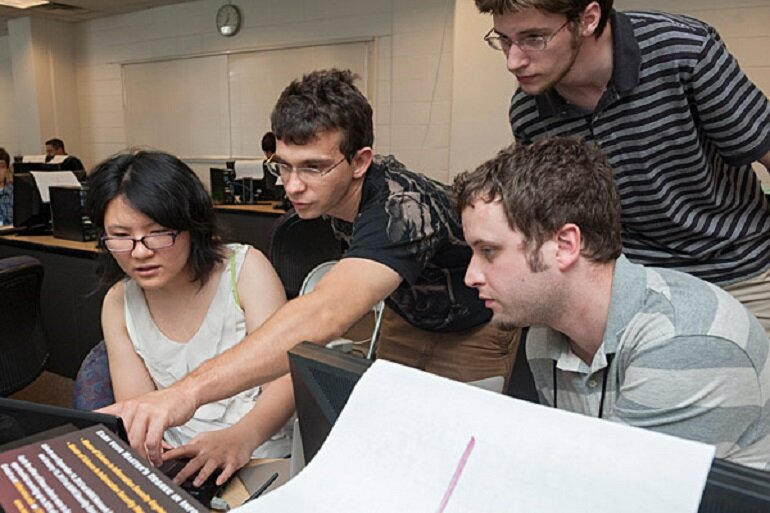 Cybersecurity experts train students at the U.S. Cyber Challenge Delaware Camp hosted by the University of Delaware.