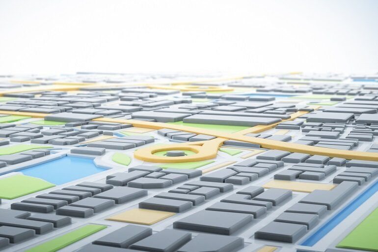 GIS map of a city