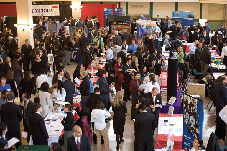 A job fair at Rutgers University in New Brunswick, N.J.