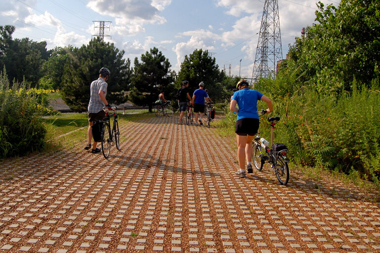 Permeable pavement absorbs stormwater and reduces the polluted runoff that flows into the Chesapeake Bay.
