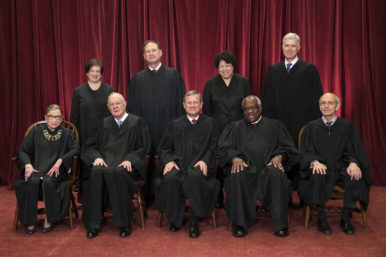 Group shot of the U.S. Supreme Court justices