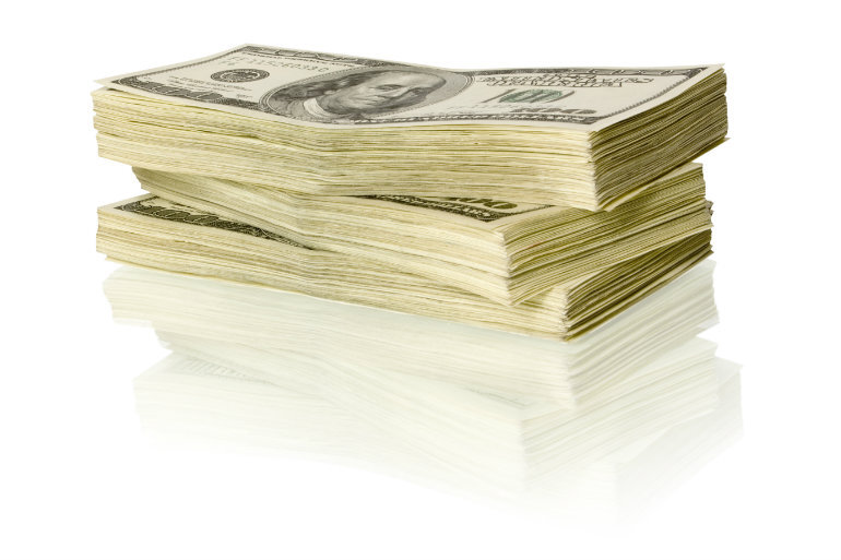 Stack of cash.