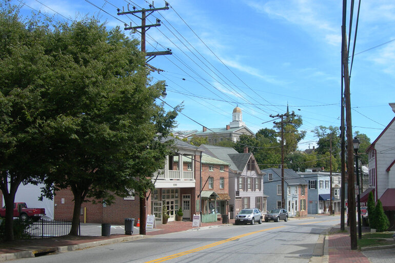 Downtown Ellicott City, Md., a suburb of Baltimore.