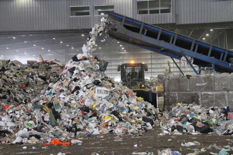 A waste management facility in Edmonton, Alberta.