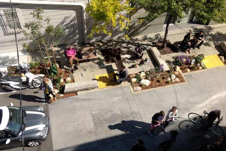 "San Francisco has transformed hundreds of alleys into ""living alleys"" where people can hang out."
