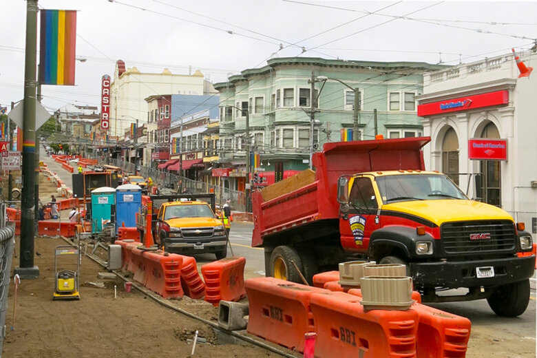 Public construction in San Francisco.