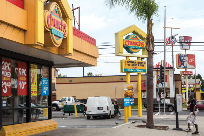 In 2008, the city prohibited the opening or expansion of fast-food restaurants in a part of South L.A. that had high obesity rates.