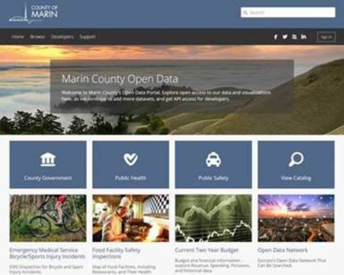 Marin County, Calif., Launches Open Data Portal